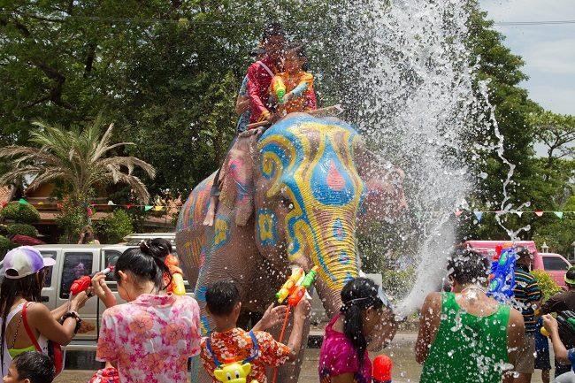 Hình ảnh lễ hội té nước Songkran