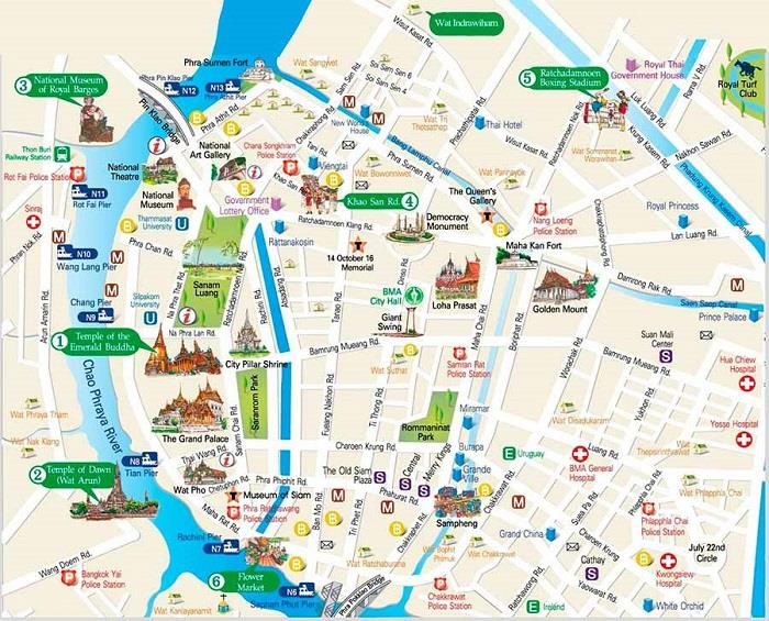 Bản đồ Bangkok