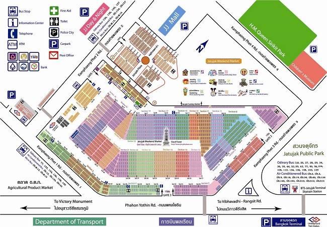 Bản đồ chợ Chatuchak.