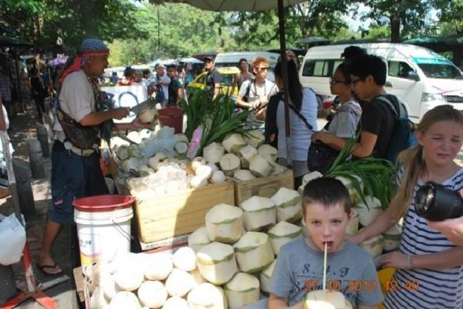 Dừa nướng Thái Lan