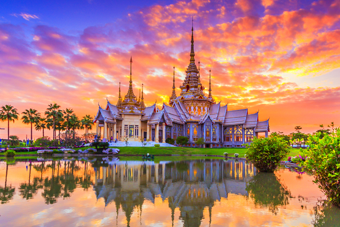 Biểu tượng tháp chùa của đất nước Thái Lan