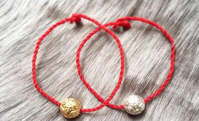Vòng chỉ đỏ vàng, bạc